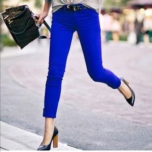 J-Brand royal blue jeans
